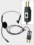 小形ヘッドセット(LSHP-1(S)/LSHP-1L(S))電話受付台等の双頭プラグ専用の標準形ヘッドセットタイプ。
