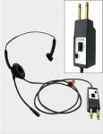 小形ヘッドセット(LSHP-1(SU)/LSHP-1L(SU))標準形ヘッドセットに送話を止める事ができるミュートスイッチ付きタイプ。